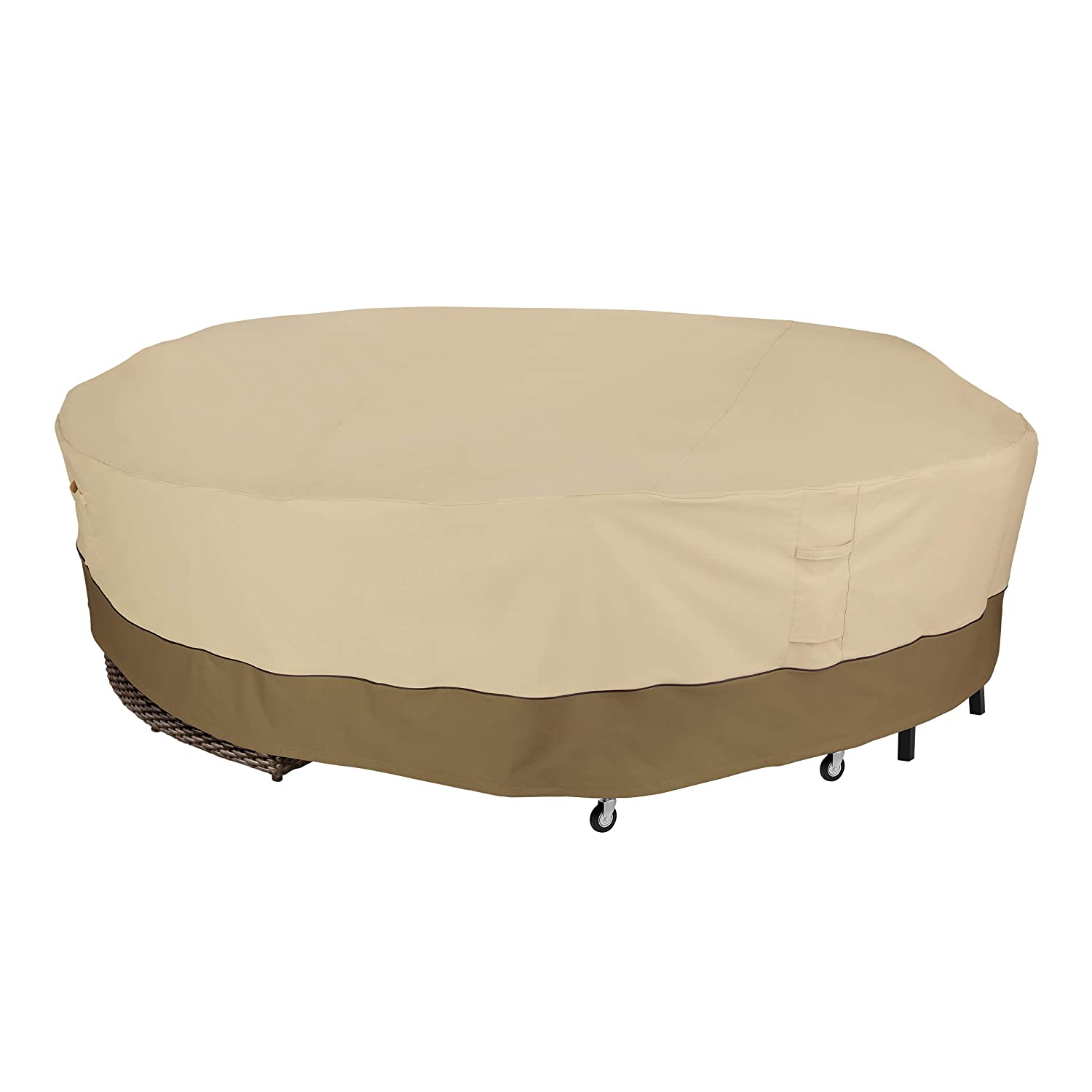 "Classic Accessories Veranda 128"" Diameter Round Sectional Sofa/General Purpose Patio Furniture Cover"