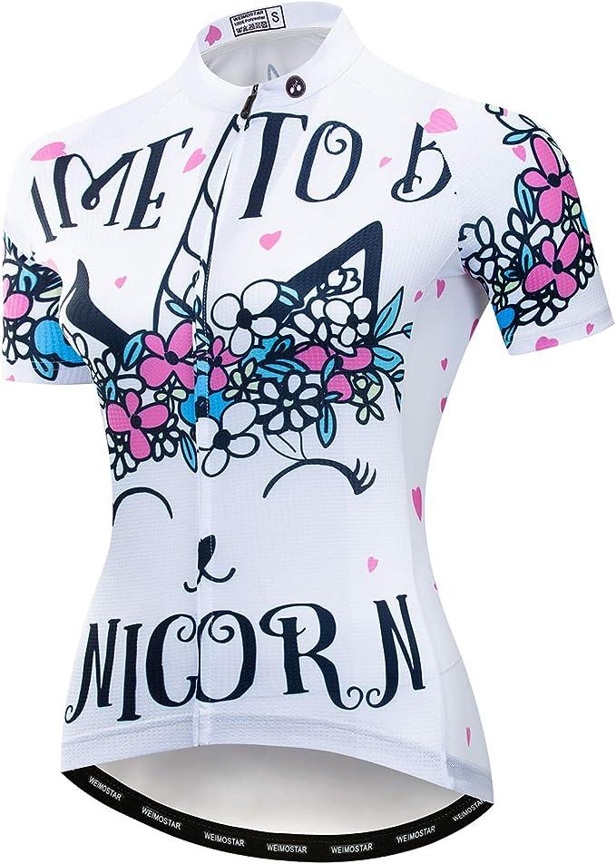 Women/'s Cycling Jersey Bicycle Short Sleeve Shirt Cycling Top Bike Clothing CD40