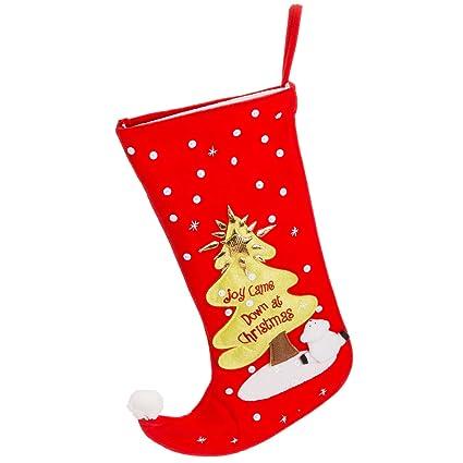 Joy vino en árbol de Navidad de calcetines de fieltro