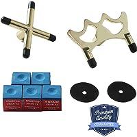 1st Disc Retractable Pool Bridge Stick,Telescopic Billiards Cue Extension with Chalk Holder Combo,Billiards Pool Cue Accessory