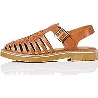 Marca Amazon - find. Gumsole Weave Leather - Sandalias Punta Cerrada Mujer