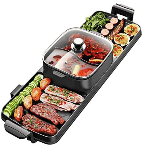 NANXCYR Sin Humo Parrilla eléctrica Estilo Coreano BBQ ...