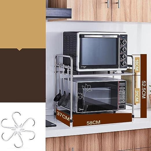 Muebles de cocina Cocina de acero inoxidable Horno de microondas ...