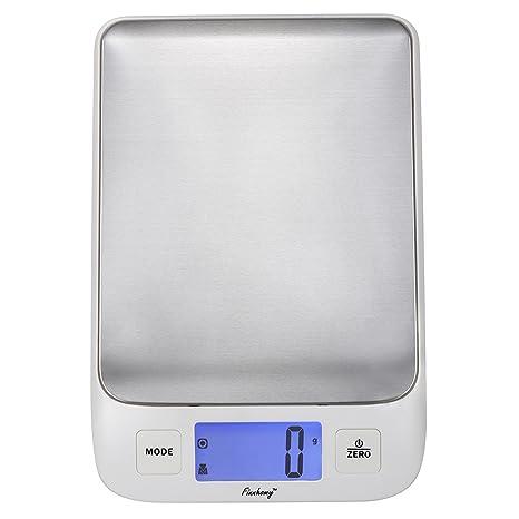 finnhomy Digital báscula de cocina para alimentos agua o leche multifunción peso y volumen de líquido