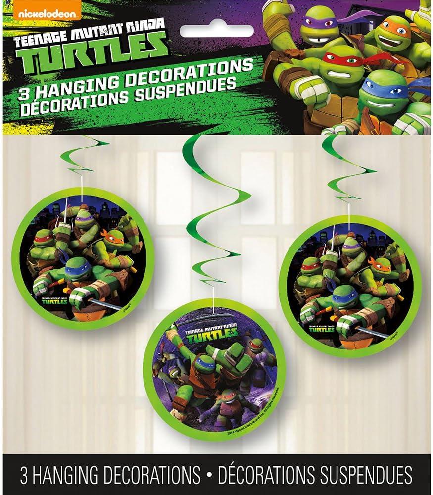 "Unique Hanging Teenage Mutant Ninja Turtles Decorations (3 Count), 26"", Multicolor, One Size, Model: 44741"