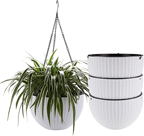 9.7 inches Pccooler Mid Century Rustproof Iron Art Flower Pot Holder Extra Tray Fit Any Planter Pot Below 9.7 Inches Plant Stand for Indoor Outdoor Plant Pots Modern Home Decor