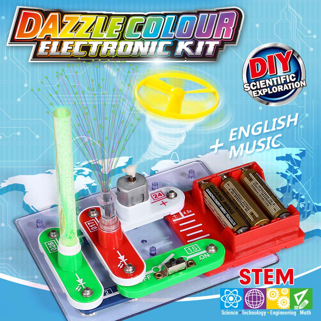 Cuifress Educational Snap Circuits Electronics Discovery Blocks Kit Science Toy Kids DIY by Cuifress (Image #2)