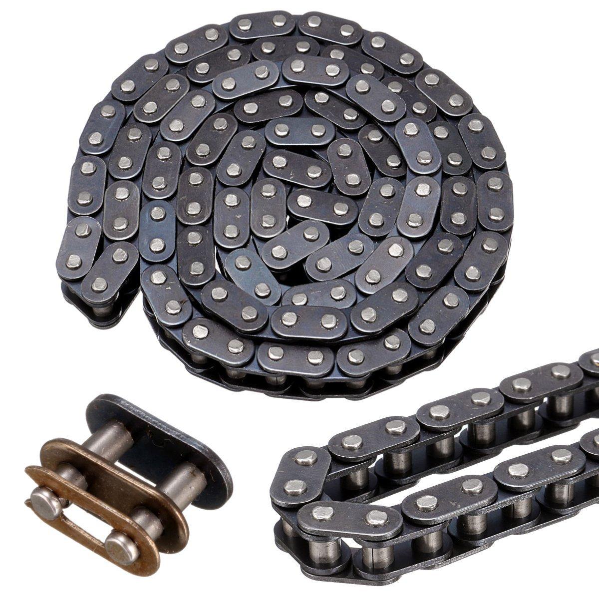 ILS –  T8 F Chain Belt with Buckle Link 116 for 43 cc 47 cc 49 cc Mini Dirt ATV Quad Mini Moto I LOVE SHOPPING