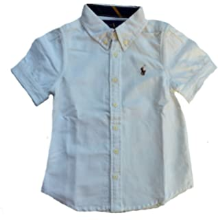 ac33c270c Amazon.com  RALPH LAUREN Polo Girls Blue Oxford Short Sleeve Shirt ...