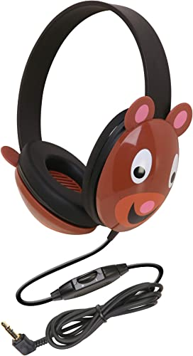 Califone 2810-BE Listening First TM Stereo Headphone for Kids, Bear Design, PC and Apple Compatible