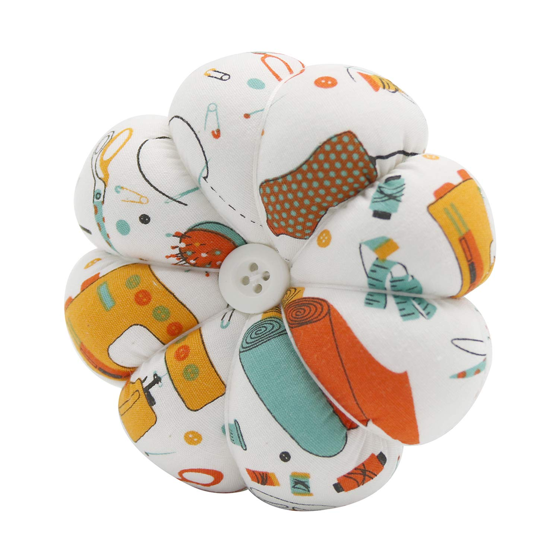 YISTA Wrist Pin Cushion Wearable Pumpkin Sewing Pin Cushions for Needlework Pink