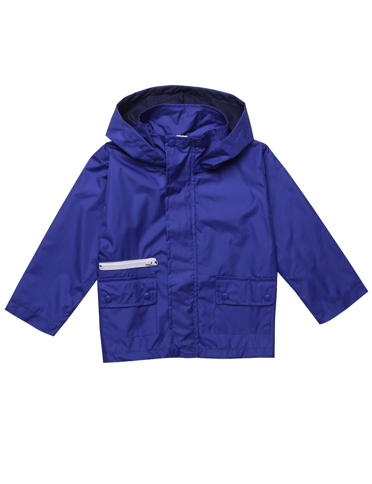 Teaio Boys Girls Hooded Waterproof Jackets Light Windbreaker Outwear Raincoat