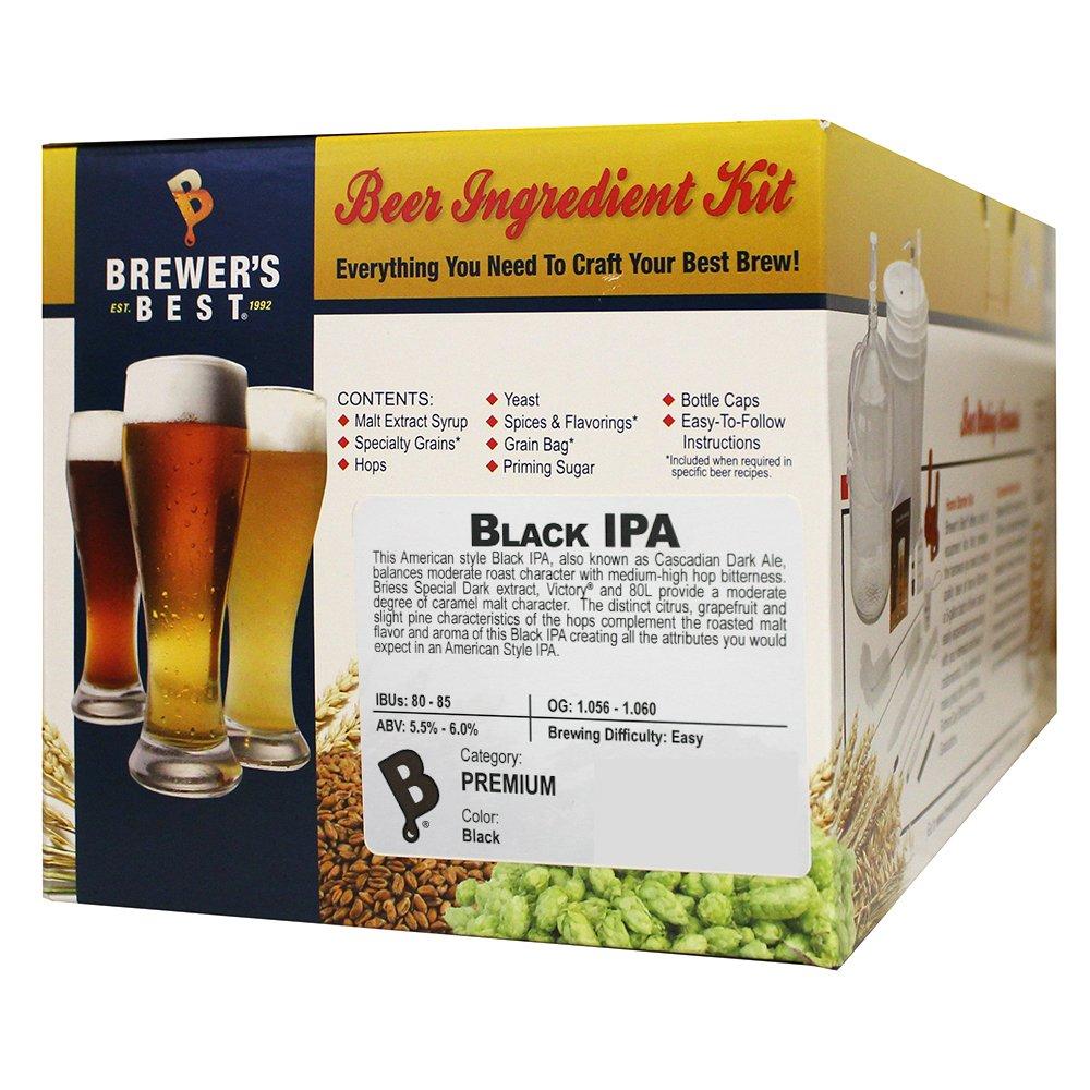 Brewer's Best - Home Brew Beer Ingredient Kit (5 gallon), (Black IPA)
