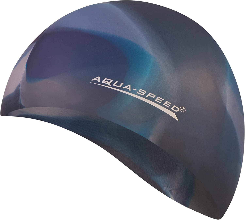 Aqua Speed® Bunt Gorro de baño (Natación Silicona Colorida), einzelne Bunt Designs:Bunt / 84: Amazon.es: Deportes y aire libre