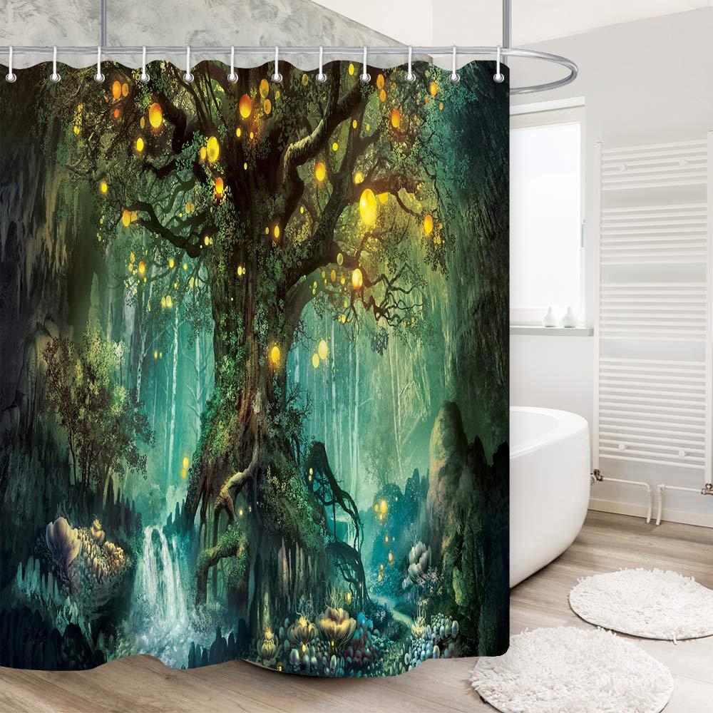 Amazon.com: DYNH cortina de ducha, cortinas de tela para ...