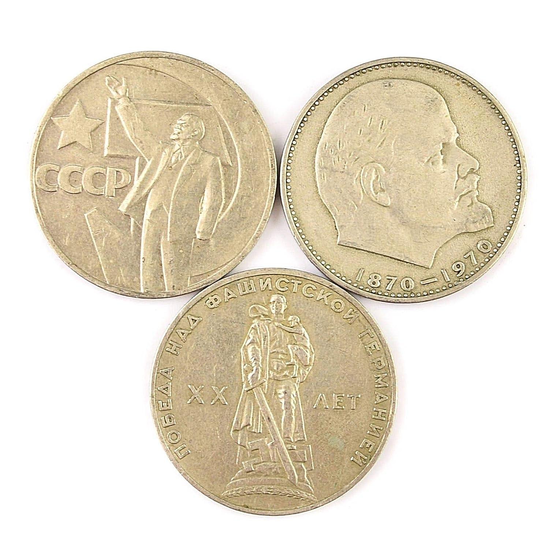 Amazon.com: USSR Soviet Rusia Conmemoración 1 Ruble 3 ...