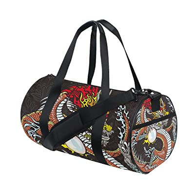 lovely Chinese Dragon Sports Duffel Bags, Travel Gym Fitness Bag