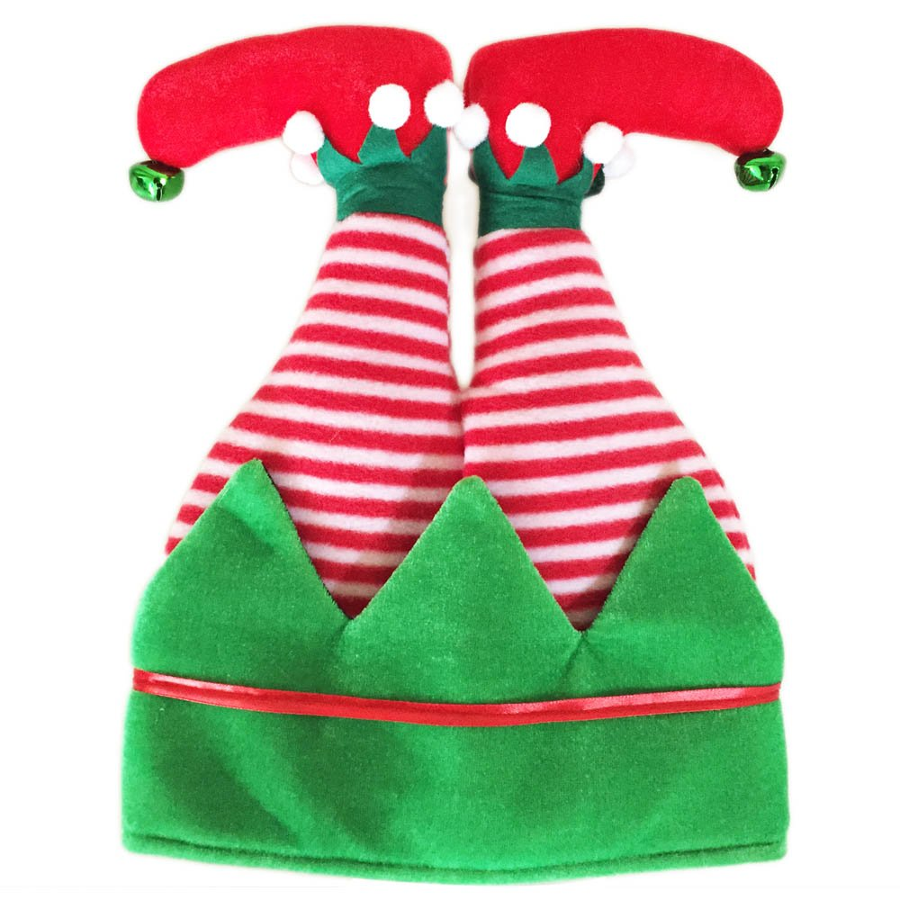 XH-06 3D Elf Hat ADJOY 3D Christmas Ugly Sweater Party Elf Hat Christmas Spirit Hat for Adult