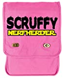 Tenacitee Scruffy Nerf Herder Flamingo Canvas Field