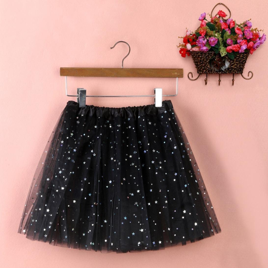 Sinwo Womens Girl Cute Pleated Gauze Short Skirt Adult Tutu Dancing Skirt Basic Skirt (Black) by Sinwo (Image #1)