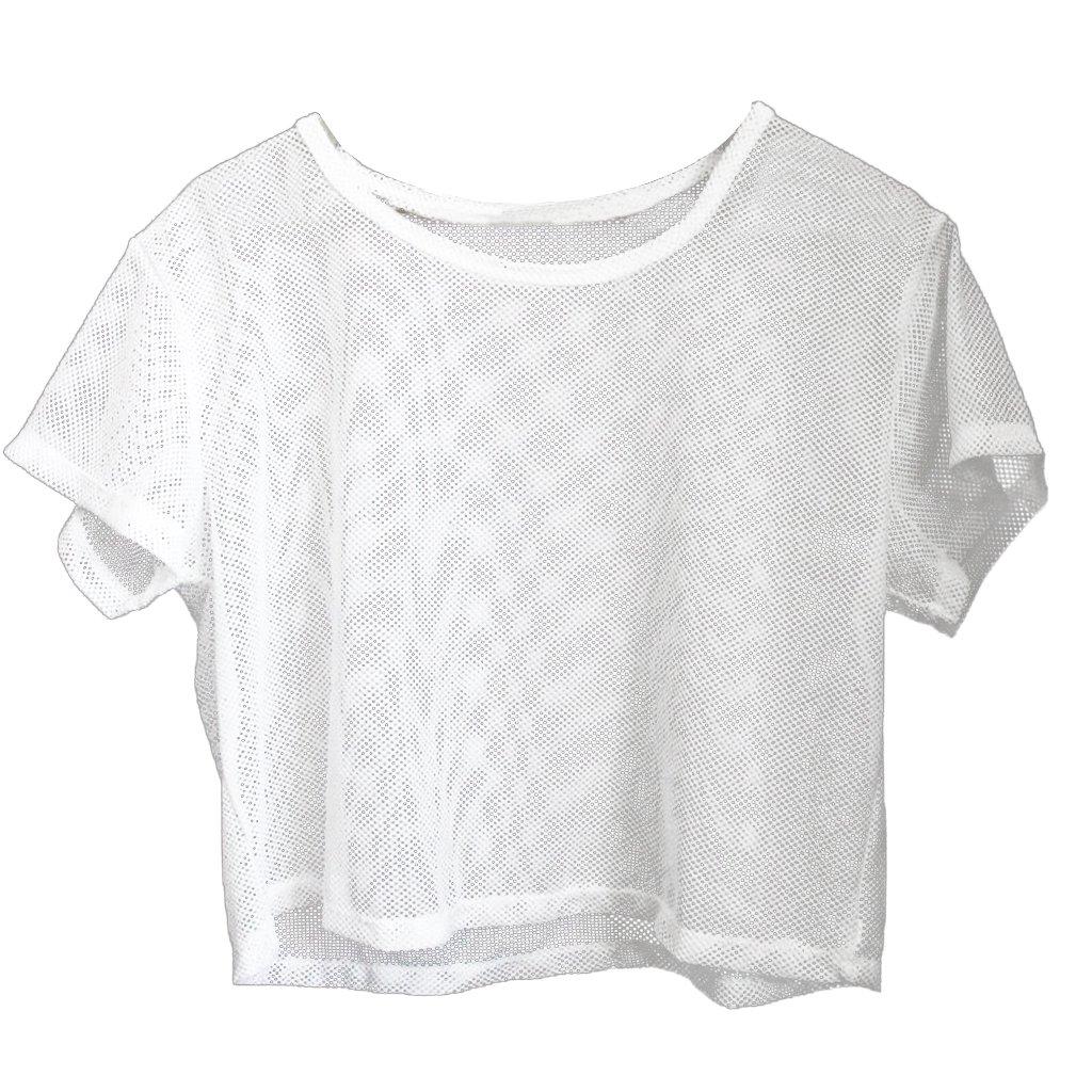 Gazechimp 1x Camisa de Malla Recortada Ajuste Suelto para Yoga Gimnasio Deportes Danza