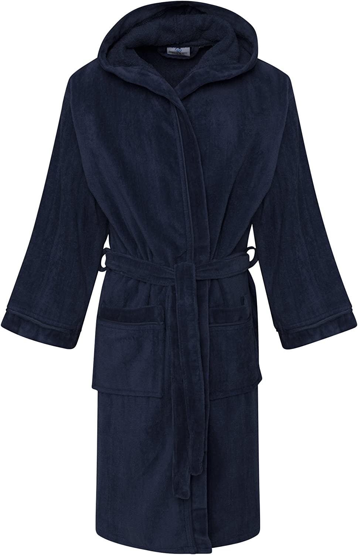 Linen Galaxy Kids Boys 100/% Egyptian Cotton Velour Terry Towelling Bath Robe Hooded