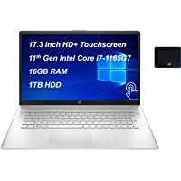 """2021 Newest HP Laptop, 17.3"""" HD+ Touchscreen, 11th Gen Intel Core i7-1165G7 Processor up to 4.7GHz, 16GB DDR4 Memory…"""