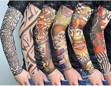 FANCYLEO - 6 Mangas de Tatuaje temporales de Nailon Falso, Brazo ...