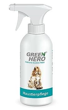 Green Hero Haustierpflege für Hunde- und Katzen, 500 ml, Pflegt die Haut bei Juckreiz, Entzündungen, Infektionen, Milben, Hef
