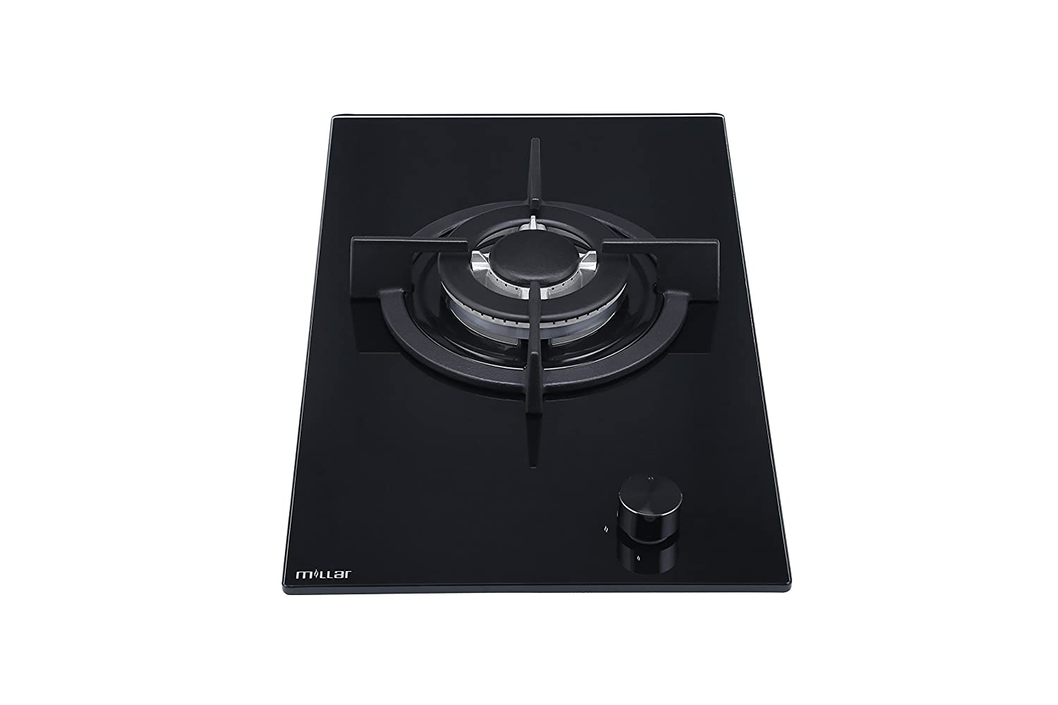 MILLAR GH3011PB 30cm Built-in 1 Burner Domino Gas on Glass Hob/Cooker / Cooktop with FFD