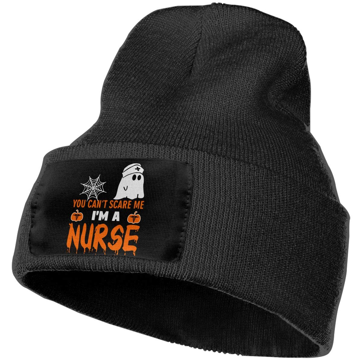 COLLJL-8 Men /& Women You Can/â/€t Scare Me I/â/€m A Nurse Outdoor Stretch Knit Beanies Hat Soft Winter Skull Caps