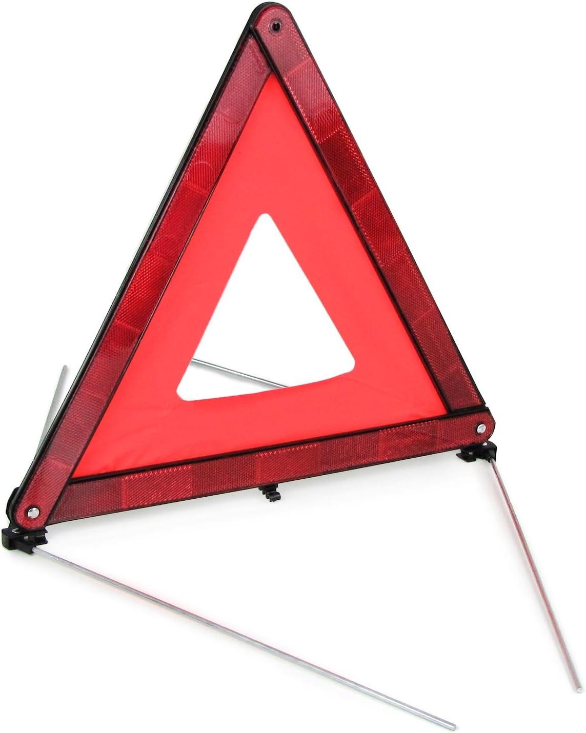 Voiture EURO Triangle de signalisation Signal davertissement Triangle avec r/éflecteur pliable