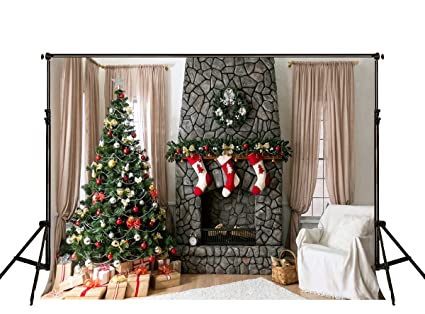 kate 10ftw x65fth christmas photography backdrop fireplace photo