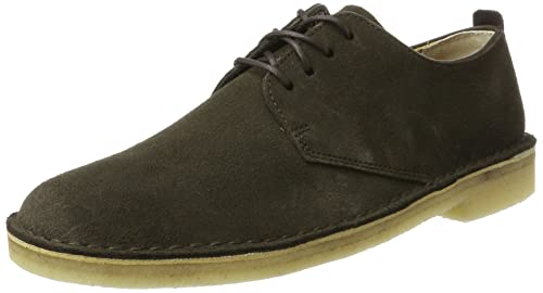 Originals Desert London, Zapatos de Cordones Derby para Hombre, Marrón (Peat Suede), 41.5 EU Clarks