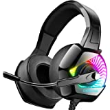 ONIKUMA Stereo Gaming Headset for PC, PS4, Xbox One, Noise Cancelling Headphones for Mac, Laptop, Nintendo Switch…