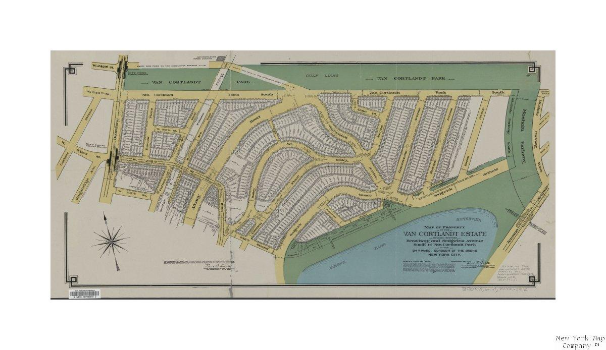 Amazon.com: Map Map Property The Van Cortlandt Estate situated ...