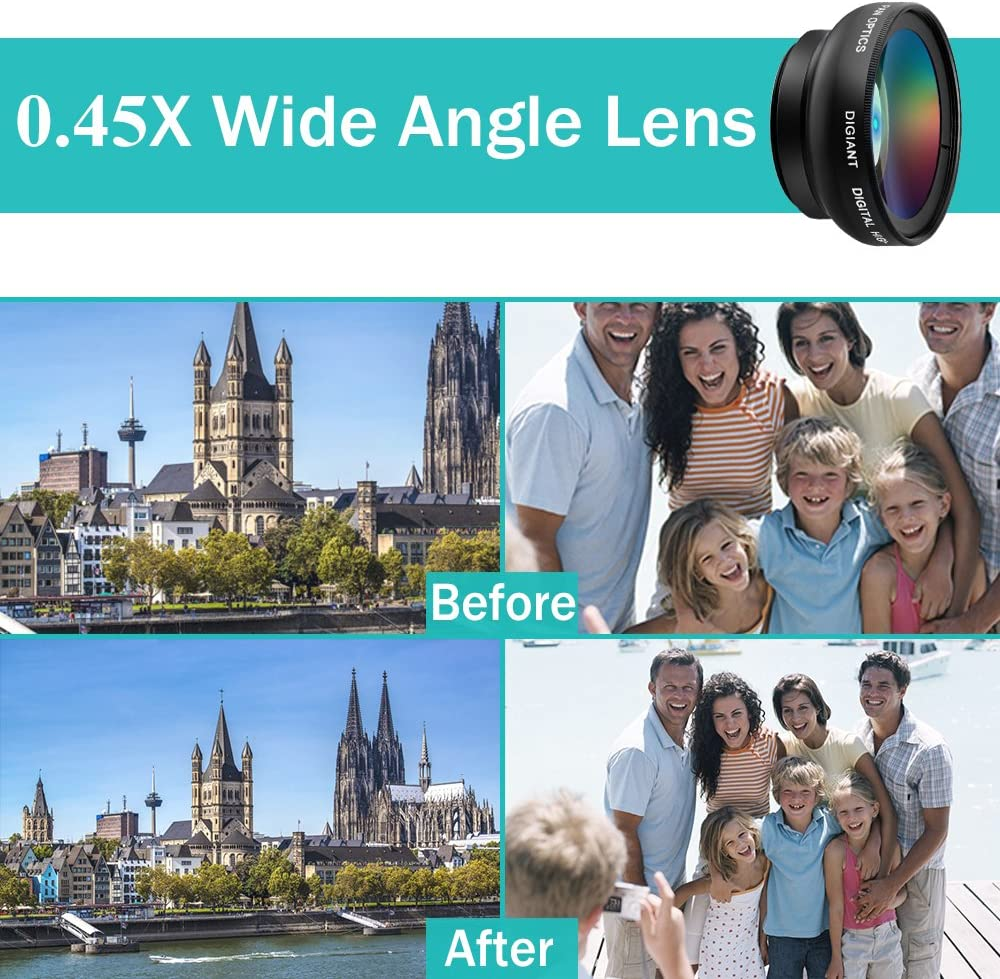 Android Smartphones Samsung DIGIANT iPhone Lens Camera Lenses Kit Macro Lens Wide Angle Lens with Clip-on for iPhone iPhone 5 5se se 4 4S 6 6s 6 plus 7 7 plus