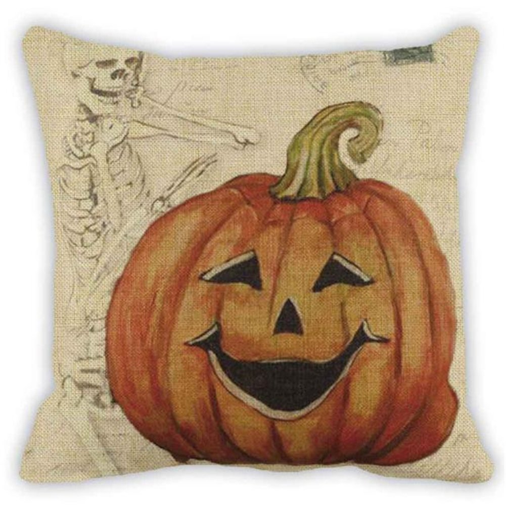 Bluester Halloween Sofa Bed Home Decoration Festival Throw Pillow Case Cushion Cover (A)