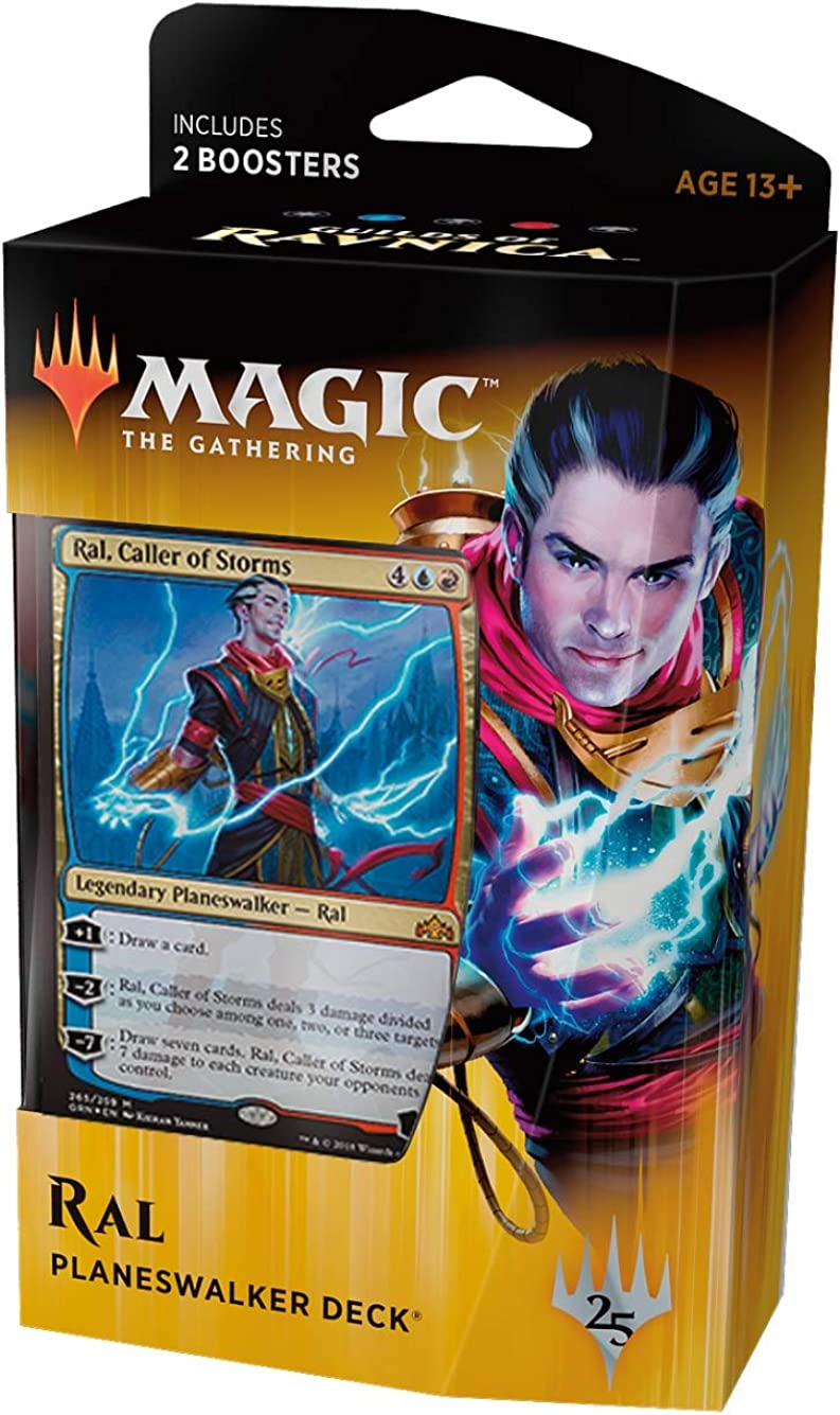 Magic The Gathering: MTG: Guilds of Ravnica Planeswalker Deck w//Two Booster Packs WOTC MTG SG/_B07HVQ51F2/_US Red//Blue RAL