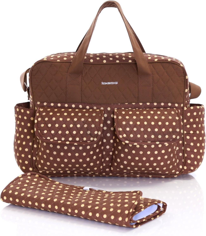 Slimbridge Melrose Baby Changing Tote Bag and Mat Mocha Dots