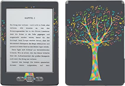 Disagu SF de 103567 _ 919 Diseño Protector de Pantalla para Amazon Kindle 4 eReader Diseño Música algodón Oscuro Transparente: Amazon.es: Informática