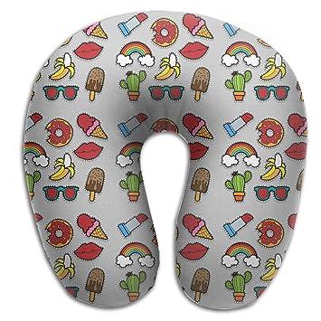 Stanley Bauer Cactus Banana Rainbow Kiss para viajes y cómodo de almohada de cuello forma de U cojín: Amazon.es: Hogar