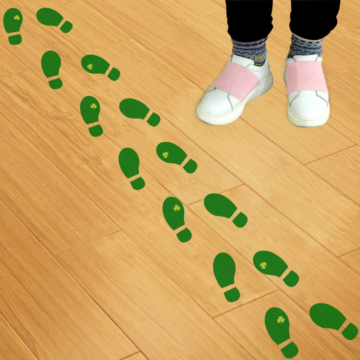 Amazon Com Leprechaun Footprint Floor Decals Stickers 16 Pairs