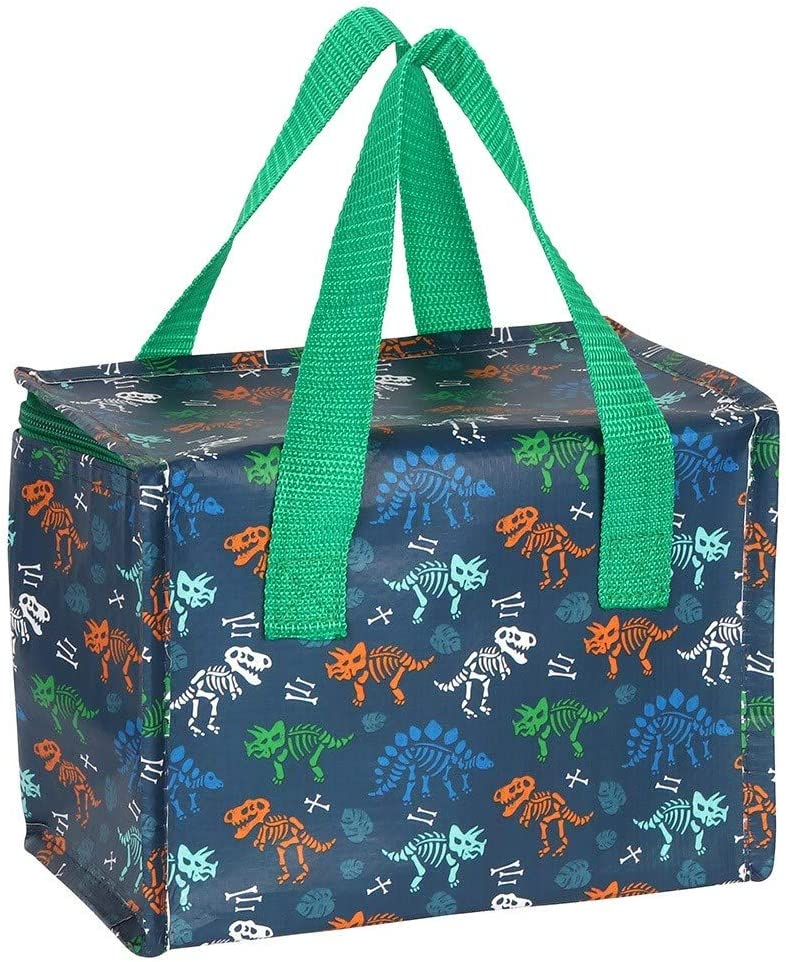 Blue Dinosaur Childrens Fun Animated Insulated Cooler Lunch Bag Portable Eco Friendly