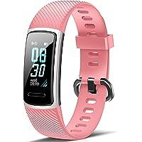 Fitfort Fitnessarmband met hartslagmeter, IP68, waterdicht, fitnesstracker, stappenteller, slaapmonitor, zittende…