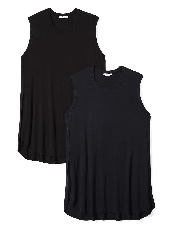 Daily Ritual Womens Plus Size Jersey Sleeveless Tunic, 2-Pack PIRD-17031320-W