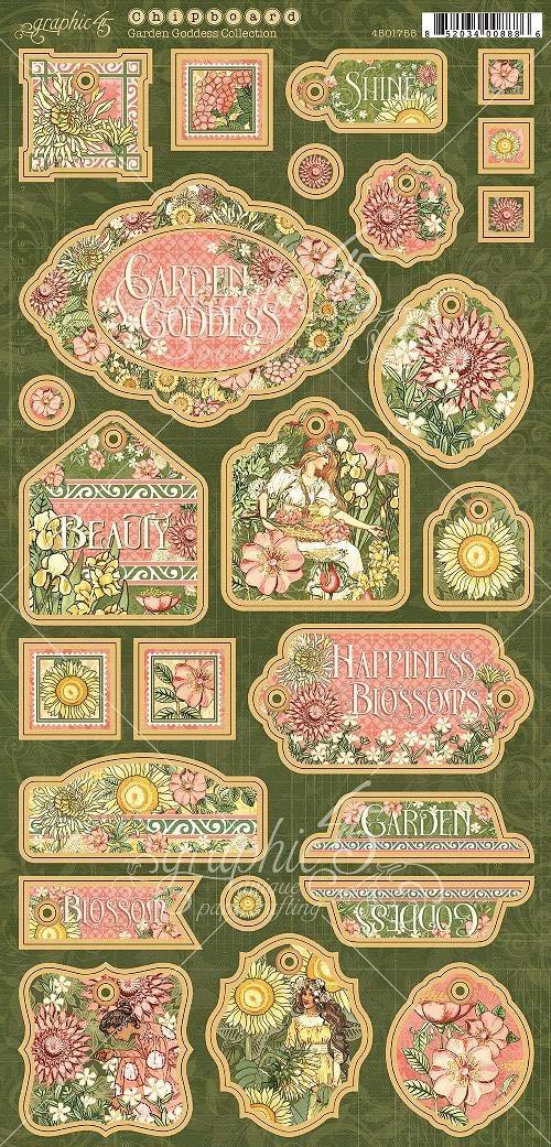 Graphic 45 Garden Goddess Chipboard Die