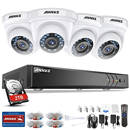 ANNKE Kit de Seguridad 3MP H.264+ DVR 8+2 Canal y 4