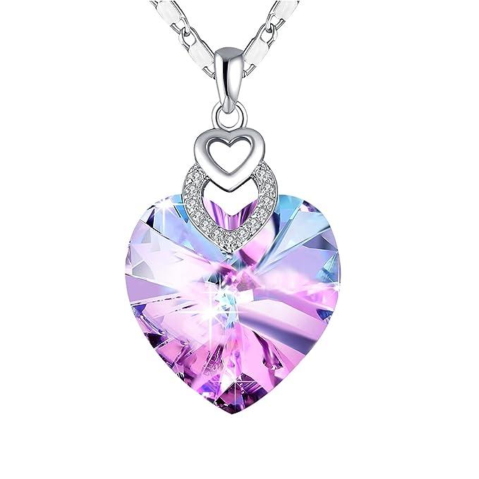 Amazon.com: PLATO H collar con colgante de corazón ...