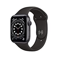 New Apple Watch Series 6 (GPS, 44mm) - Space Gray Aluminum Case with Black Sport Band
